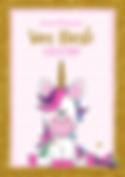 vrolijke felicitatie kaart met unicorn
