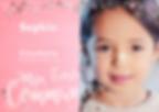 Communie uitnodiging roze fotokaart met