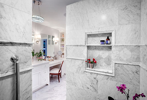 Shower Bianco  Carrara
