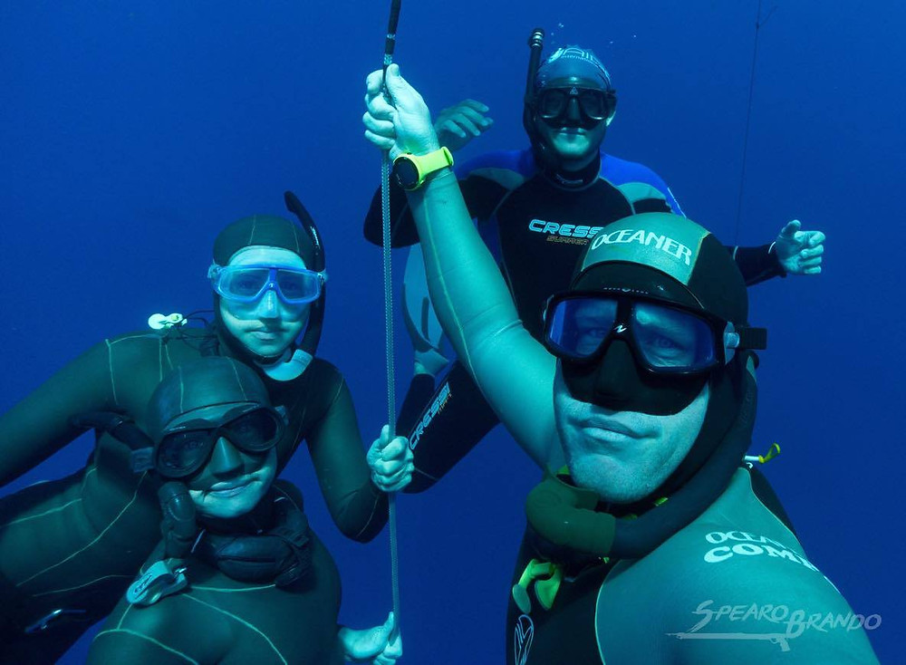 Small freediving group