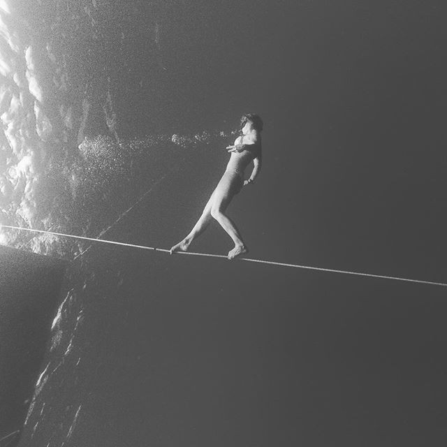 Louisa Collyns underwater tightrope