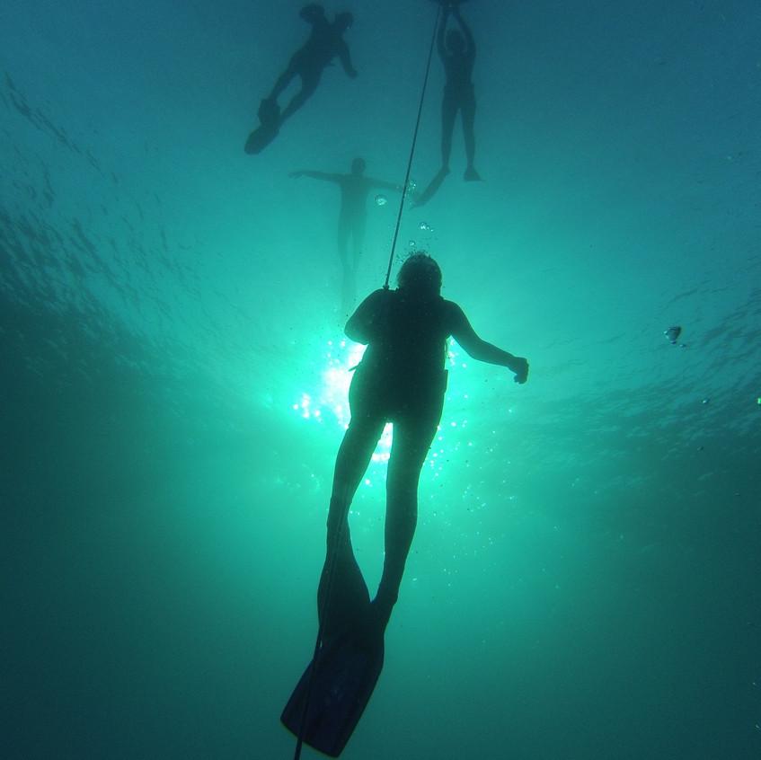 freedive training session