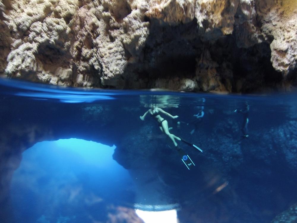 Louisa in Cave of Light Photo: Gar McGrath
