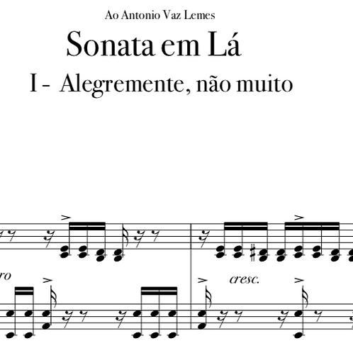 SONATA EM LÁ -  Piano Solo