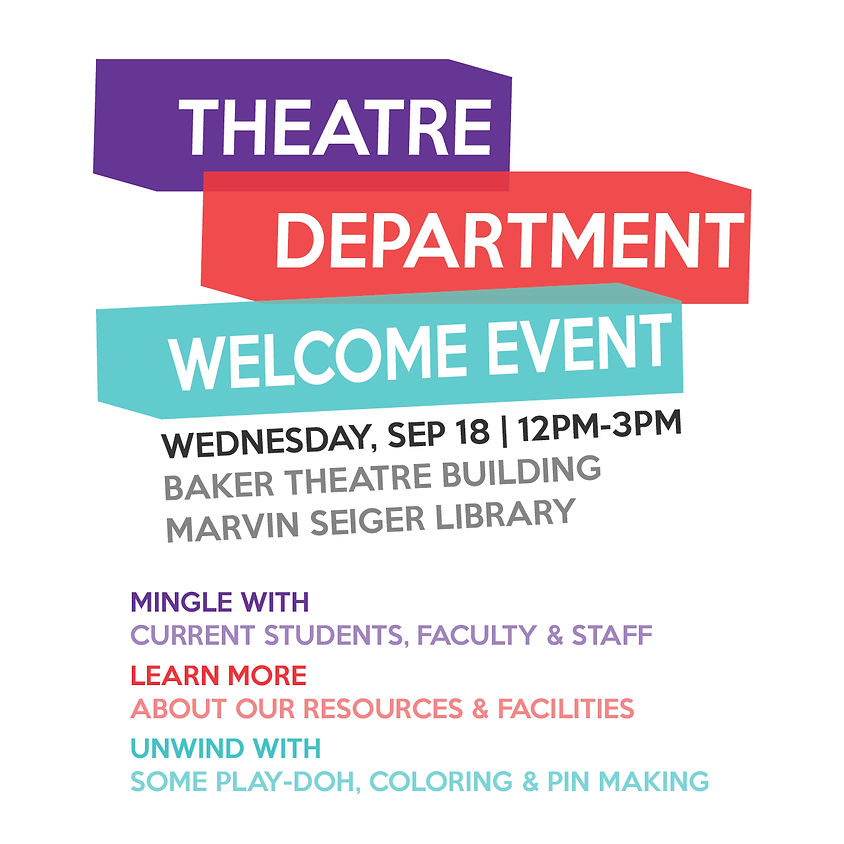 Theatre Department Welcome Event