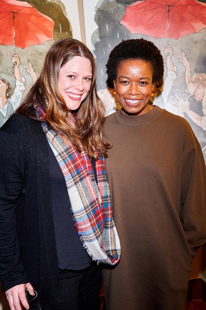 MAC BETH opening Night, 1/16/2020 at Palais by Perfect Pie: Quincy Tyler Bernstine and guest