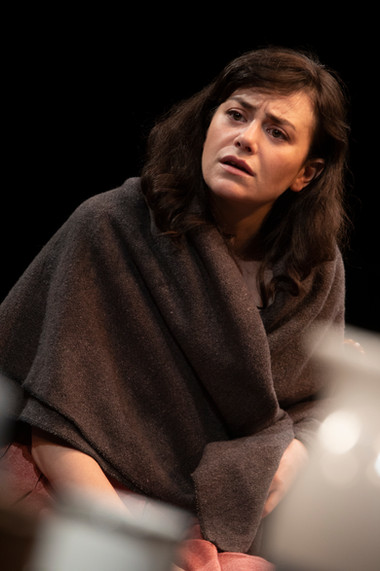 Celeste Arias in the New York premiere of Uncle Vanya, translated by Richard Nelson, Richard Pevear and Larissa Volokhonsky, and directed Nelson, running through October 14 at The Hunter Theater Project.  Photo credit: Joan Marcus