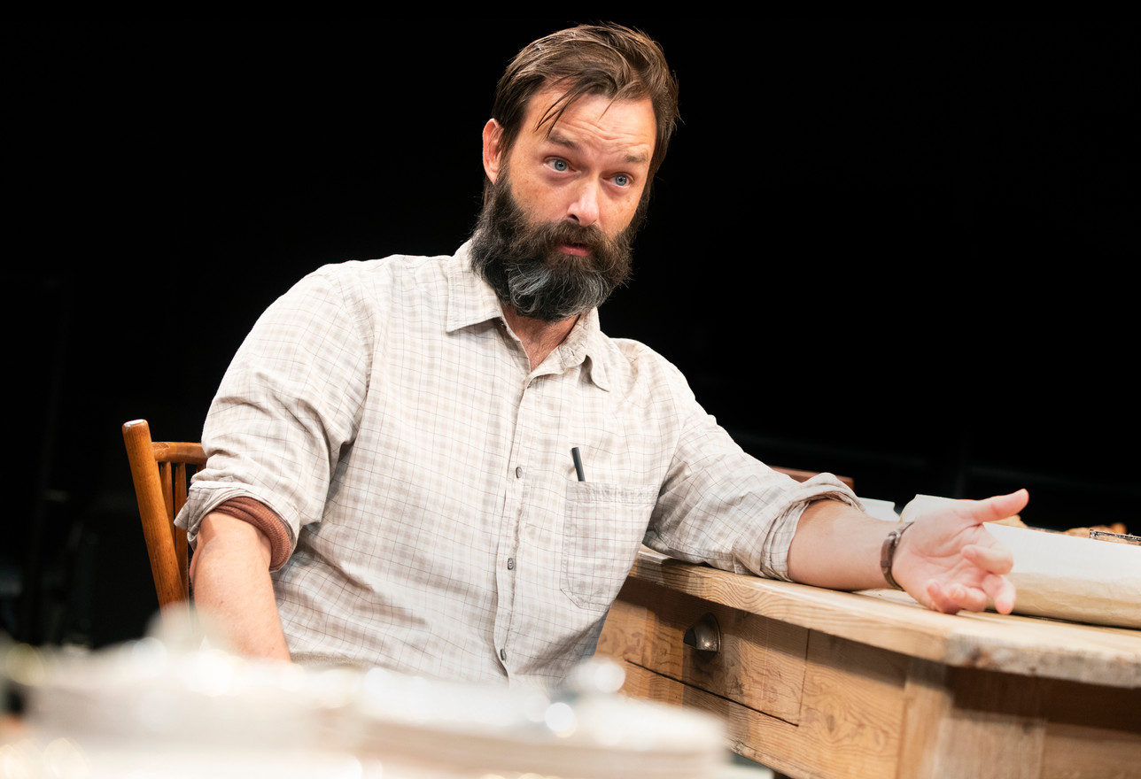 Jesse Pennington in the New York premiere of Uncle Vanya, translated by Richard Nelson, Richard Pevear and Larissa Volokhonsky, and directed Nelson, running through October 14 at The Hunter Theater Project.  Photo credit: Joan Marcus