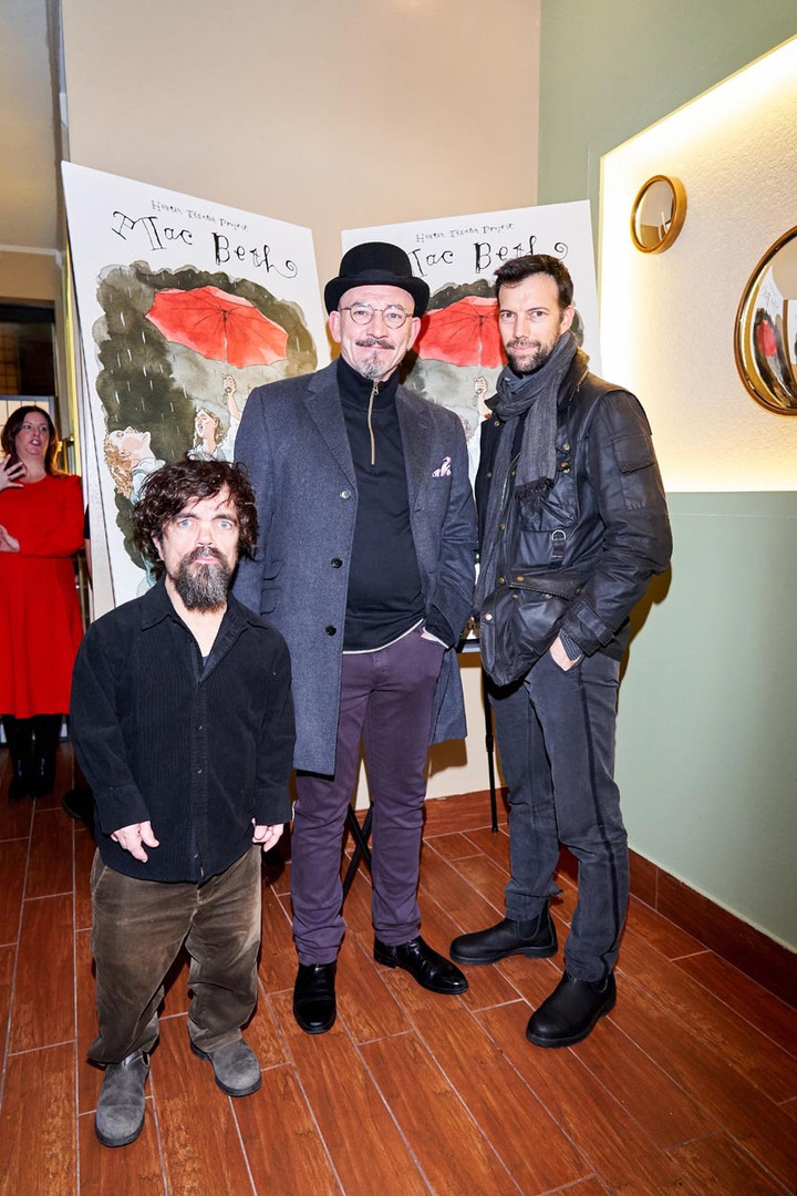 MAC BETH opening Night, 1/16/2020 at Palais by Perfect Pie: Peter Dinklage, Ritchie Coster, Lorenzo Pisoni