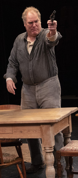 Jay O. Sanders in the New York premiere of Uncle Vanya, translated by Richard Nelson, Richard Pevear and Larissa Volokhonsky, and directed Nelson, running through October 14 at The Hunter Theater Project.  Photo credit: Joan Marcus