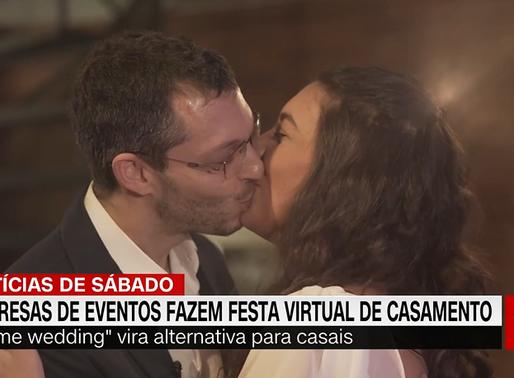 Noivos driblam pandemia e fazem cerimônia de casamento virtual