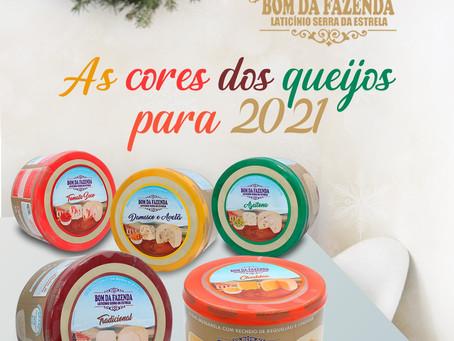 As cores dos queijos para 2021
