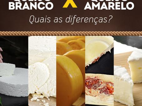 Queijo branco X Queijo amarelo : Quais as diferenças!