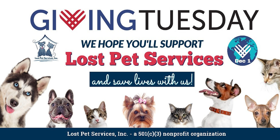 941 Lost Pet Services social share givin