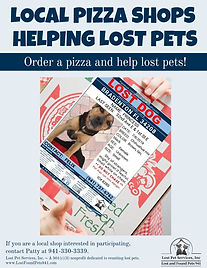 LOCAL PIZZA SHOPS HELPING LOST PETS pizz