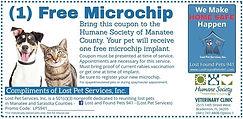 Free Microchip Voucher Lost Pet Services