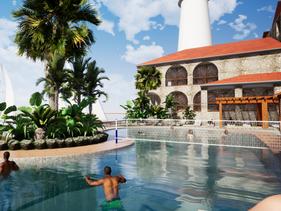 Idyllic Resort-Style Pool