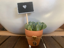centerpiece with tag