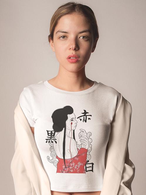 Geisha con lágrima roja