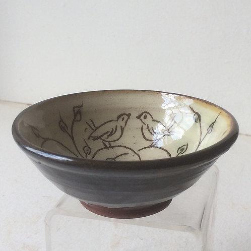 Small Slipware Bowl with Birds