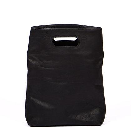 Ledertasche schwarz, leather bag black