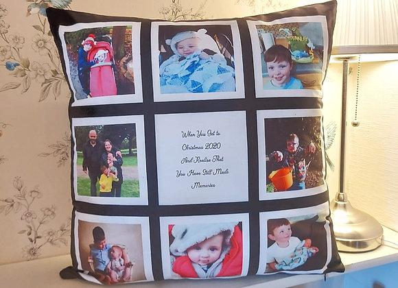 9 Square personalised cushion