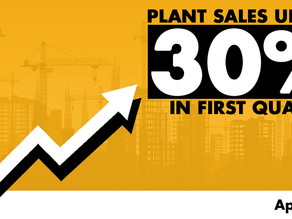 Plant sales up by 30% in first-quarter!