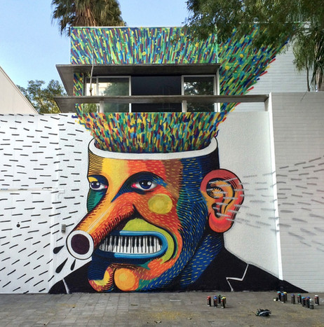 "Mural for ""A voz do Brasil"", audio production company."