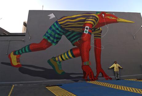 Mural Runner BIrd