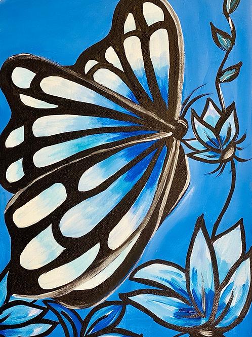 Hand-Drawn Illustration on Canvas: DIY Painting Activity