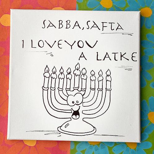 """""""I Love You a Latke"""" Festive Hanukkah Menorah DIY Painting Activity"""