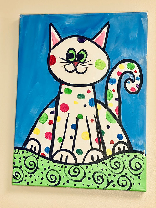 Hand-Drawn Illustration on Canvas: DIY Painting Activity