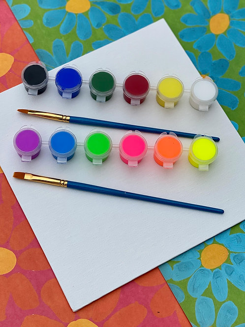 Acrylic Multi-Color Paint Kit