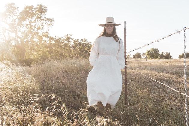 THE HOPE DRESS in crisp white