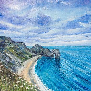 Sophie Jenkins Art - Durdle Door Blue we