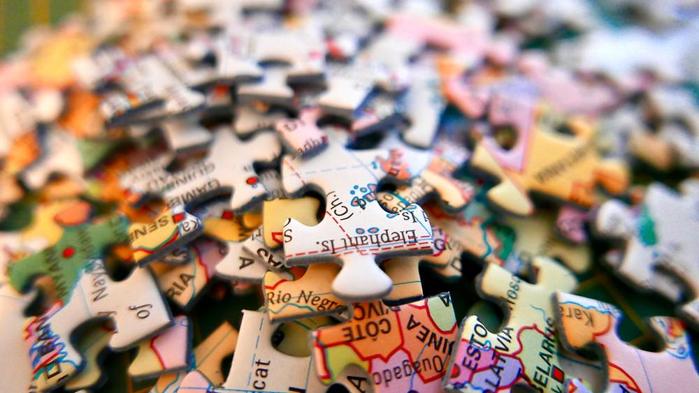 World map jigsaw puzzle.