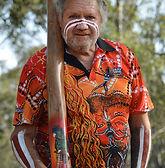 Cultural artist John Dunn at Didgeridoo Festivals in Brisbane Australia