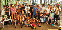 Si Mullumby is performing at Didgeridoo festivals
