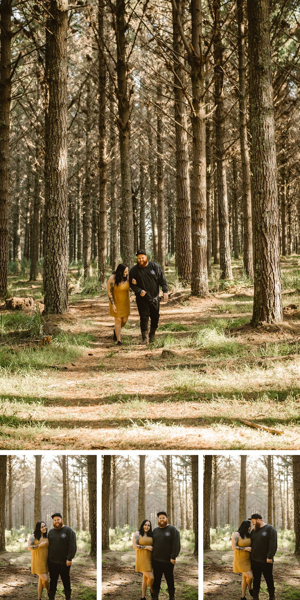 waiuku forest engagement photo session with wanderlusting lovers in auckland new zealand