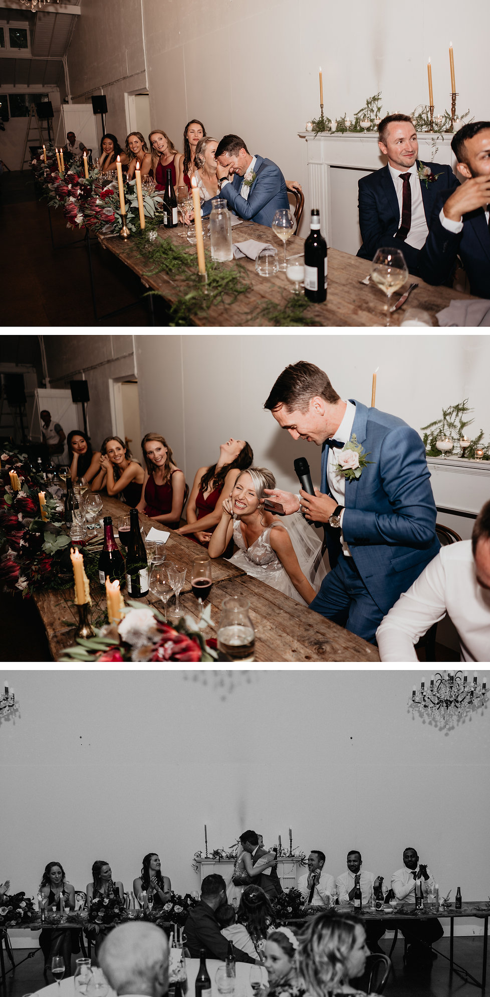 wedding speeches at rose & smith in featherston, new zealand