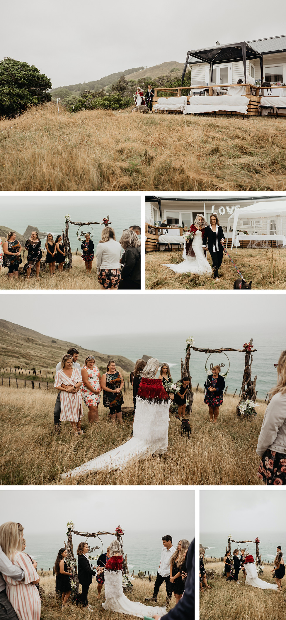 intimate same sex wedding in Mahia, New Zealand, the quarters on te au farm captured by wanderlusting lovers
