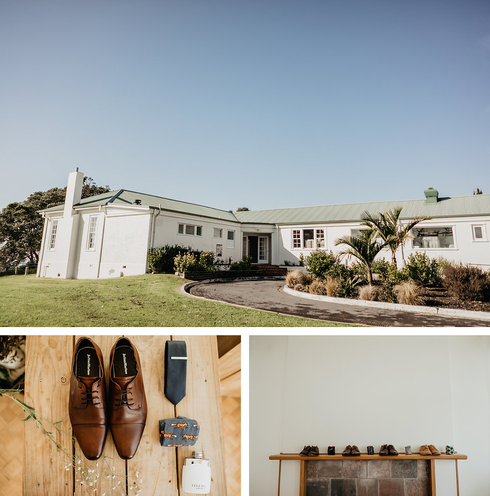 the officers mess in narrow neck, auckland new zealand, groom prep by wanderlusting lovers