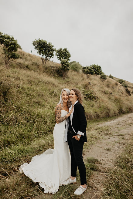 same sex wedding couple captured by wanderlusting lovers in Maiha, New Zealand