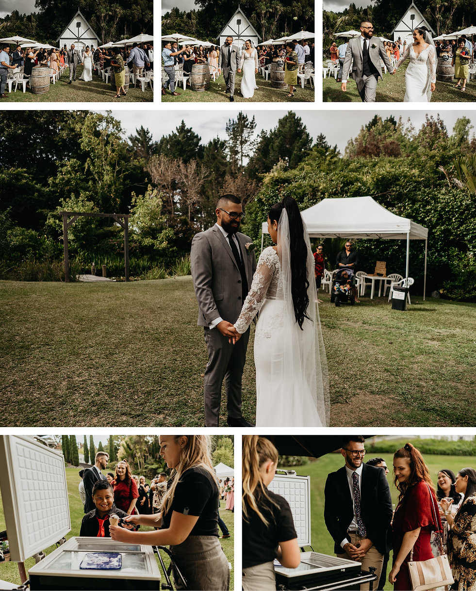 wedding cereomony at bridegwater estate in auckland, new zealand captued by wanderlusting lovers
