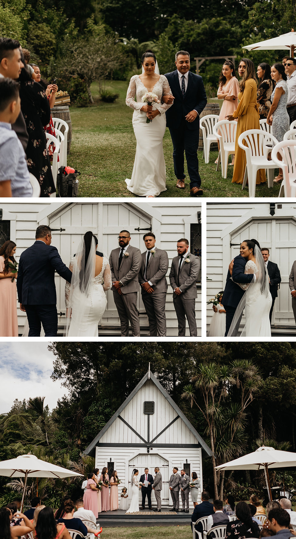 bride arrival at bridgewater estate in west auckland, new zealand, wedding venue, captured by wanderlusting lovers