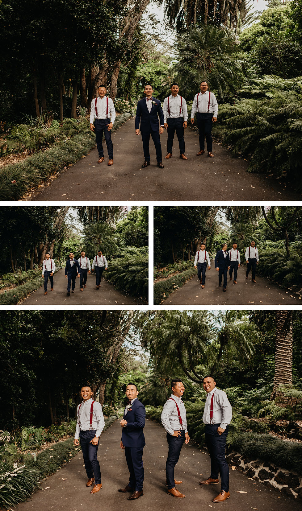 Groom photos captured at the Kelliher Estate, Auckland, New Zealand. Wanderludting Lovers