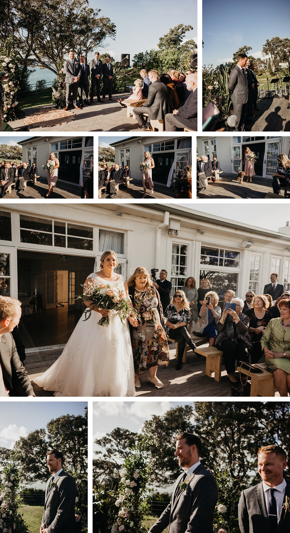 wedding at the officers mess in narrow neck beach, auckland new zealand