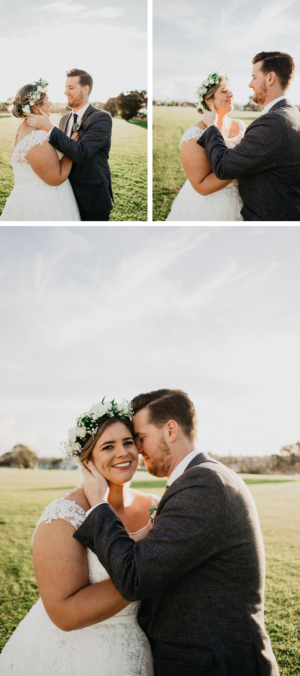 bridal photos at the officers mess in narrow neck, auckland, new zealand. Floral crown