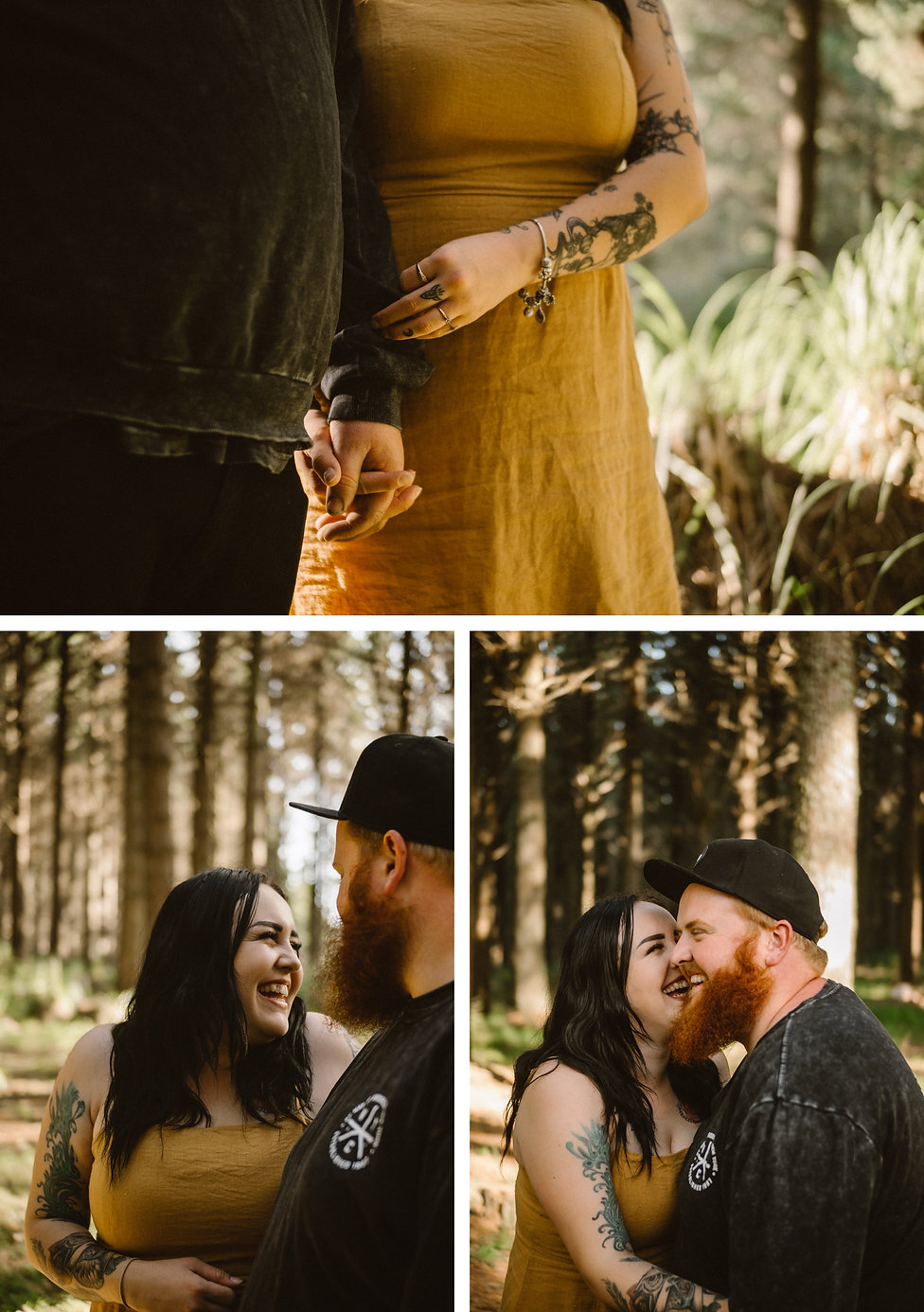 what to wear to engagement session in waiuku forest, auckland new zealand, captured by wanderlusting lovers