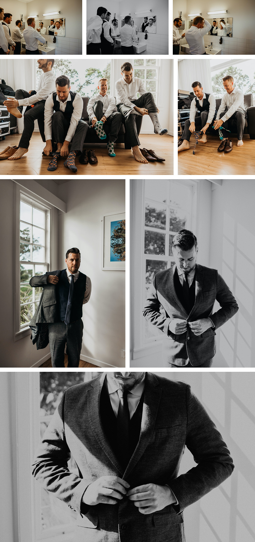 groom prep at the officers mess in auckland, new zealand, captured by wanderlusting lovers